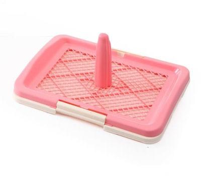 Western Туалет для собак с сеткой под пеленку без столбика Розовый (фото, вид 1)