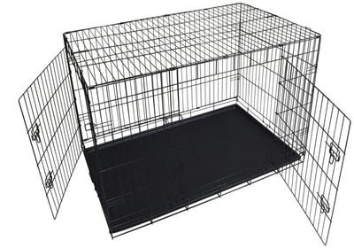 Lion Клетка двухдверная с пластиковым поддоном №3 (фото, вид 1)