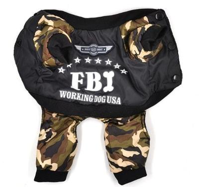 4 My Pets Комбинезон для собак FBI на флисе (фото, вид 1)