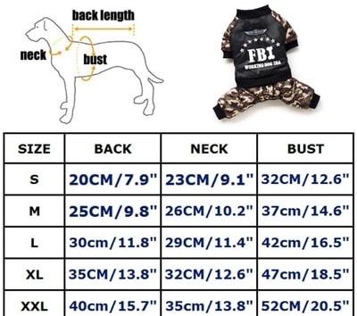 4 My Pets Комбинезон для собак FBI на флисе (фото, вид 4)