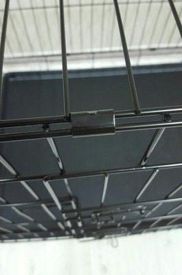 Lion Клетка двухдверная с пластиковым поддоном №4 (фото, вид 2)
