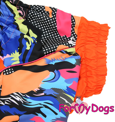 ForMyDogs Комбинезон для больших собак Оранжевый на меху, девочка (фото, вид 1)