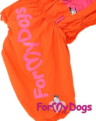 ForMyDogs Комбинезон для больших собак Оранжевый на меху, девочка (фото, вид 2)