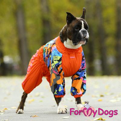 ForMyDogs Комбинезон для больших собак Оранжевый на меху, девочка (фото, вид 4)