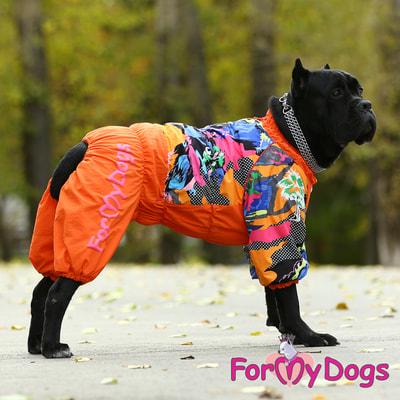 ForMyDogs Комбинезон для больших собак Оранжевый на меху, девочка (фото, вид 5)