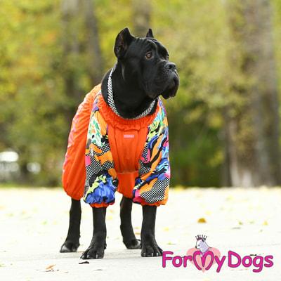 ForMyDogs Комбинезон для больших собак Оранжевый на меху, девочка (фото, вид 6)