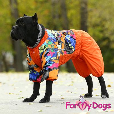 ForMyDogs Комбинезон для больших собак Оранжевый на меху, девочка (фото, вид 7)
