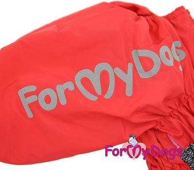 ForMyDogs Комбинезон для больших собак Красно/черный на меху, девочка (фото, вид 1)