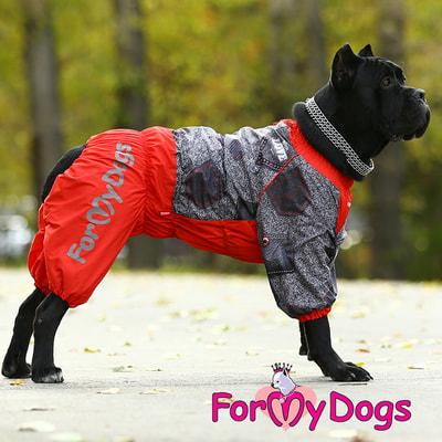 ForMyDogs Комбинезон для больших собак Красно/черный на меху, девочка (фото, вид 5)