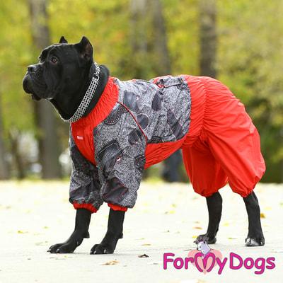 ForMyDogs Комбинезон для больших собак Красно/черный на меху, девочка (фото, вид 6)