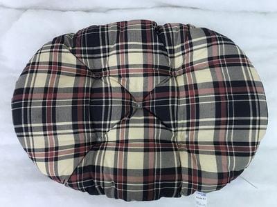 Бобровый дворик Лежак-подушка Клетка Бежевая (фото, вид 1)