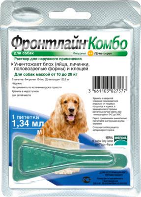 Boehringer Ingelheim Фронтлайн Комбо для собак – для защиты от клещей, блох в форме капель (фото, вид 1)