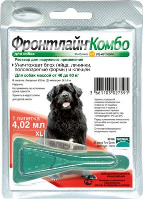 Boehringer Ingelheim Фронтлайн Комбо для собак – для защиты от клещей, блох в форме капель (фото, вид 3)