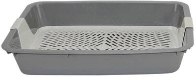 Туалет-лоток DOGMAN Большой с сеткой для кошек 42х31х7см (фото, вид 2)