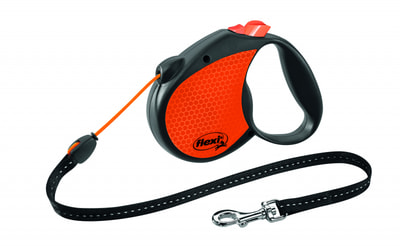 Поводок-рулетка flexi Limited Edition Neon Reflect M (до 20 кг) трос 5 м (фото, вид 1)