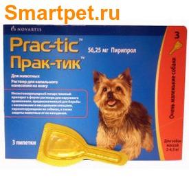 Prac-tic Капли для собак 2-4,5кг от блох и клещей (фото, вид 1)