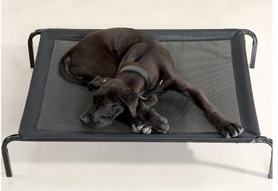 Lion Лежак-топчан для крупных пород собак черного цвета (фото, вид 1)
