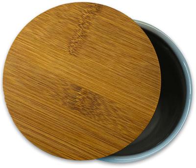 КерамикАрт Бокс керамический для хранения лакомств для собак белый (фото, вид 1)
