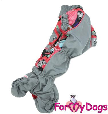 ForMyDogs Дождевик для таксы Фламинго для девочек (фото, вид 2)