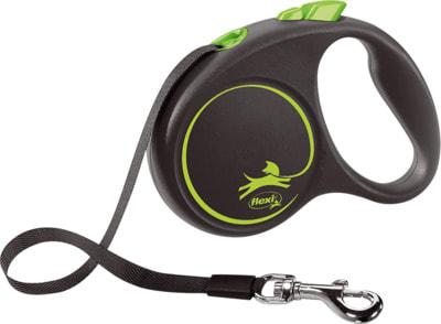Поводок-рулетка flexi Black Design S, лента 5м, для собак до 15кг (фото, вид 2)
