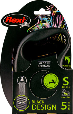 Поводок-рулетка flexi Black Design S, лента 5м, для собак до 15кг (фото, вид 4)