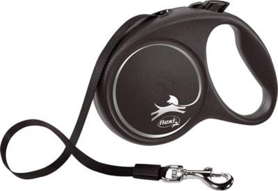 Поводок-рулетка flexi Black Design L, лента 5м, для собак до 50кг (фото, вид 1)