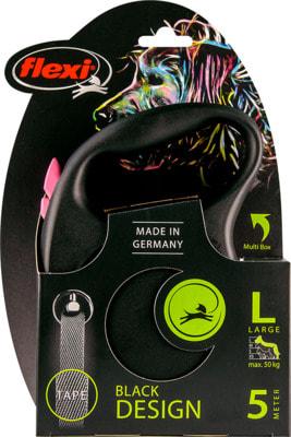 Поводок-рулетка flexi Black Design L, лента 5м, для собак до 50кг (фото, вид 6)