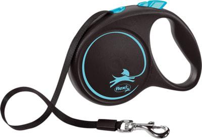 Поводок-рулетка flexi Black Design M, лента 5м, для собак до 25кг (фото, вид 3)