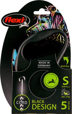 Поводок-рулетка flexi Black Design S, трос 5м, для собак до 12кг (фото, вид 2)