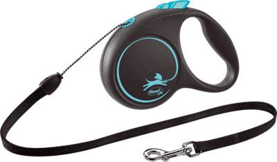 Поводок-рулетка flexi Black Design S, трос 5м, для собак до 12кг (фото, вид 3)