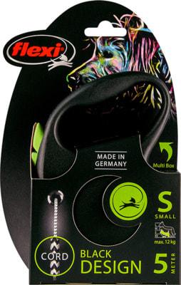 Поводок-рулетка flexi Black Design S, трос 5м, для собак до 12кг (фото, вид 4)