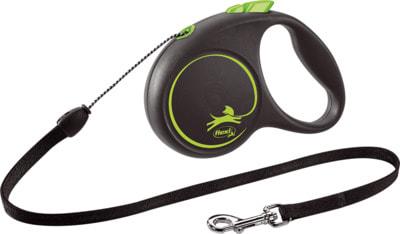 Поводок-рулетка flexi Black Design S, трос 5м, для собак до 12кг (фото, вид 5)