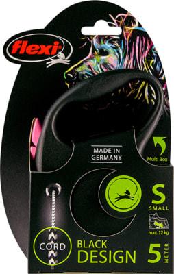Поводок-рулетка flexi Black Design S, трос 5м, для собак до 12кг (фото, вид 6)