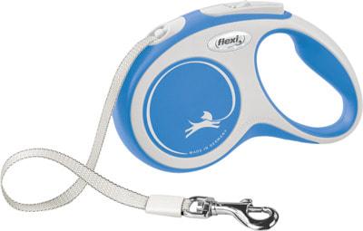 Поводок-рулетка flexi New Comfort S, лента 5 метров, для собак до 15 кг (фото, вид 1)