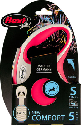 Поводок-рулетка flexi New Comfort S, лента 5 метров, для собак до 15 кг (фото, вид 8)
