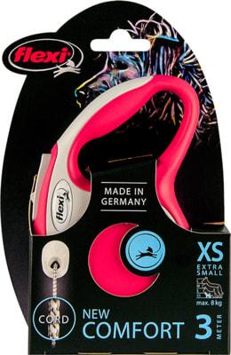Поводок-рулетка flexi NEW LINE Comfort XS трос 3 метров, для собак до 8кг (фото, вид 8)