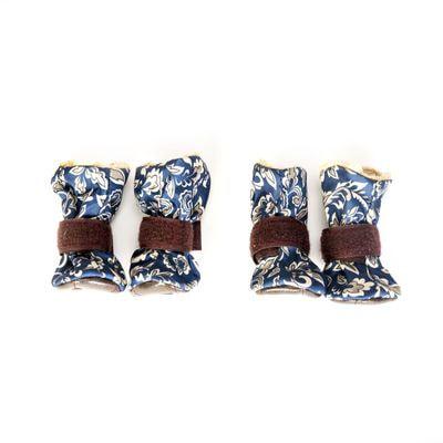 OSSO Ботиночки-носочки для мелких собак на меху, подошва кожзам (фото, вид 1)