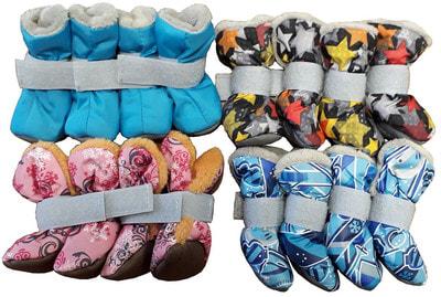 OSSO Ботиночки-носочки для мелких собак на меху, подошва кожзам (фото, вид 2)