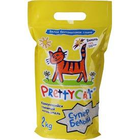 PrettyCat Наполнитель для кошачьего туалета Cупер белый с ванилью (фото, вид 1)