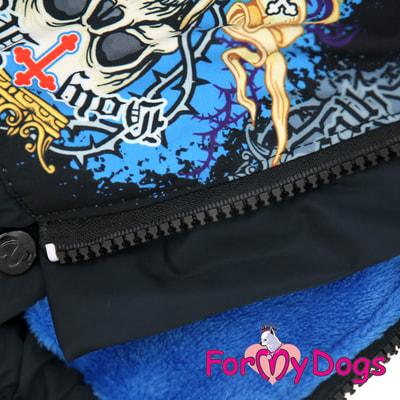 ForMyDogs Комбинезон для больших собак Череп черный на мальчика (фото, вид 4)