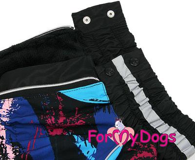 ForMyDogs Комбинезон для больших собак Черный на мальчика (фото, вид 2)