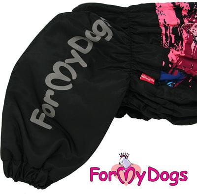 ForMyDogs Комбинезон для больших собак Черный на мальчика (фото, вид 3)