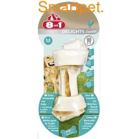 8in1 Косточки с куриным мясом и минералами для чистки зубов у собак Dental Delights (фото, вид 1)
