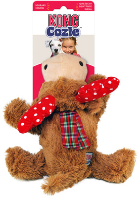 Kong Holiday игрушка для собак Cozie Олень (фото, вид 1)