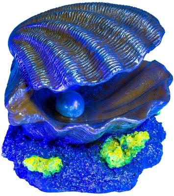 GloFish Раковина-жемчужница-декорация с GLO-эффектом (фото, вид 1)