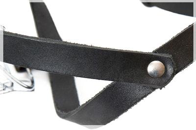 JULIUS-K9 Намордник для собак c укороченной мордой, металл+кожа (фото, вид 4)