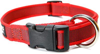 JULIUS-K9 Ошейник для собак Color & Gray, красно-серый (фото, вид 1)