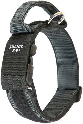 JULIUS-K9 Ошейник для собак Color & Gray, с закрытой ручкой, черно-серый (фото, вид 3)