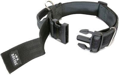 JULIUS-K9 Ошейник для собак Color & Gray, с закрытой ручкой, черно-серый (фото, вид 4)