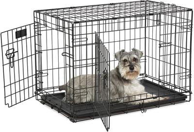 """MidWest Клетка для собак и кошек Contour с двумя дверьми 30"""" (фото, вид 1)"""
